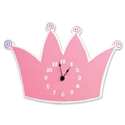 Trend Lab® Tiara Wall Clock in Pink/White