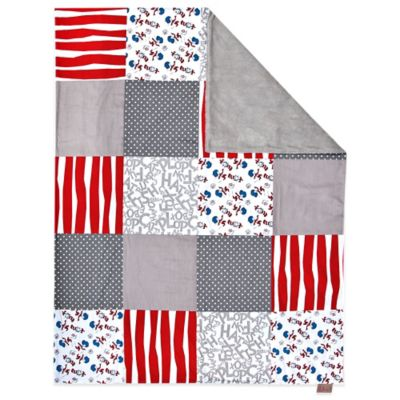 Trend Lab® Dr. Seuss™ Cat and Things Multi-Patched 2-Layer Receiving Blanket