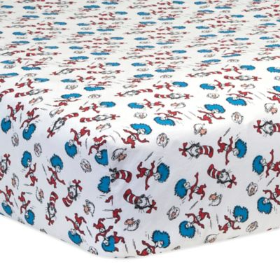 Trend Lab® Dr. Seuss™ Cat and Things Fitted Crib Sheet