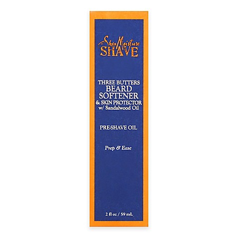buy sheamoisture shave three butters beard softener 2 oz pre shave oil from bed bath beyond. Black Bedroom Furniture Sets. Home Design Ideas