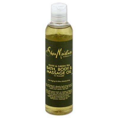 Shea Moisture 8 oz.& Olive & Green Tea Bath, Body & Massage Oil