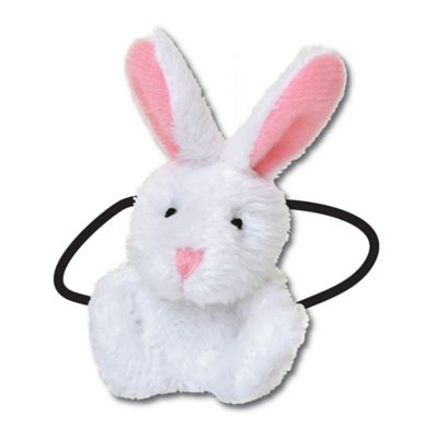 Ponytail Pals® Plush Bunny Ponytail Holder in White