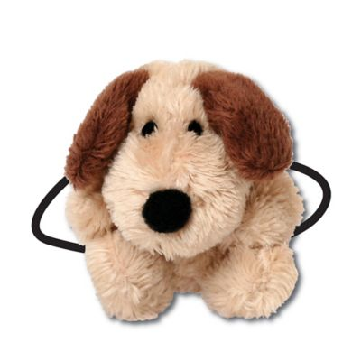 Ponytail Pals® Plush Dog Ponytail Holder in Tan