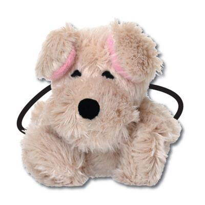 Ponytail Pals® Plush Dog Ponytail Holder in Grey