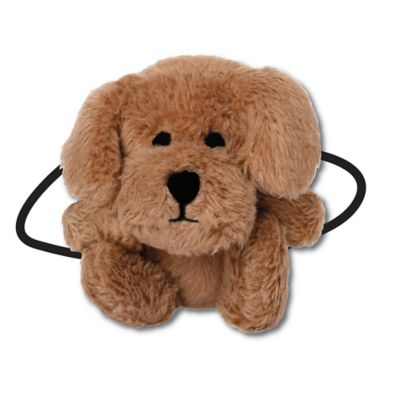 Ponytail Pals® Plush Dog Ponytail Holder in Brown