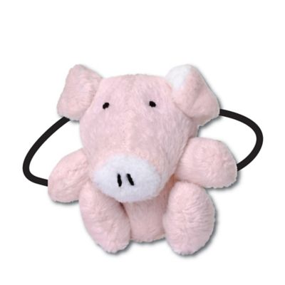 Ponytail Pals® Plush Pig Ponytail Holder in Pink