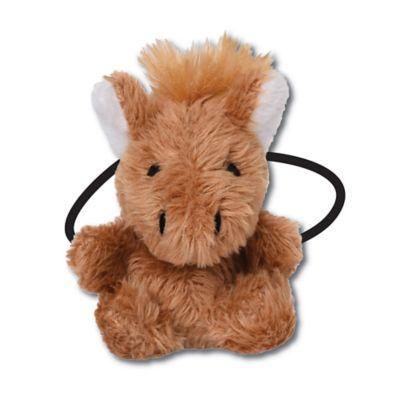 Ponytail Pals® Plush Horse Ponytail Holder in Brown