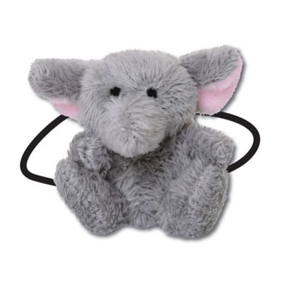 Ponytail Pals® Plush Elephant Ponytail Holder in Grey