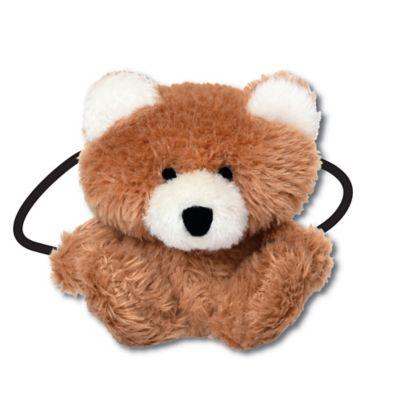 Ponytail Pals® Plush Bear Ponytail Holder in Brown