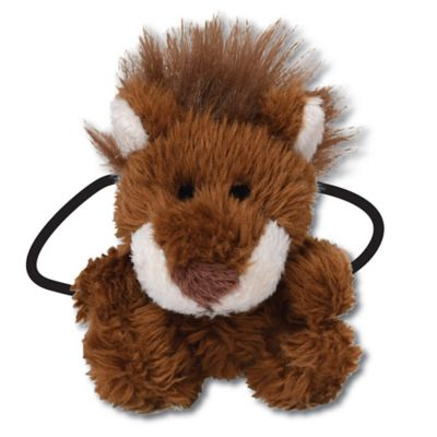 Ponytail Pals® Plush Lion Ponytail Holder in Brown