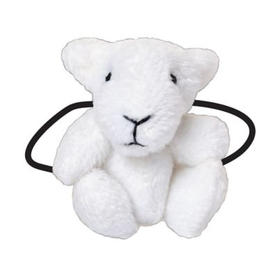 Ponytail Pals® Plush Lamb Ponytail Holder in White