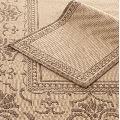 Safavieh Courtyard Indoor/Outdoor 2-Piece Rug Set in Brown