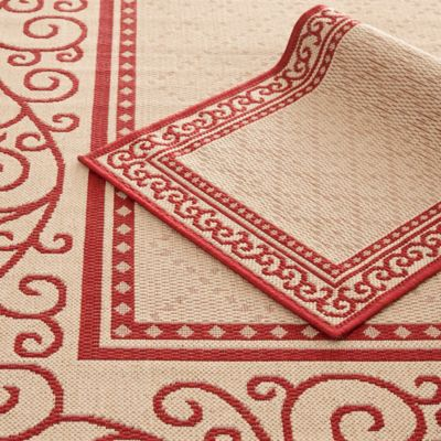 Safavieh Courtyard Indoor/Outdoor 2-Piece Rug Set in Red