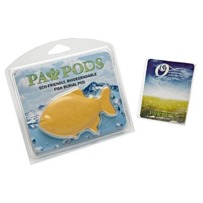 Goldfish Paw Pod Pet Burial Pod in Natural
