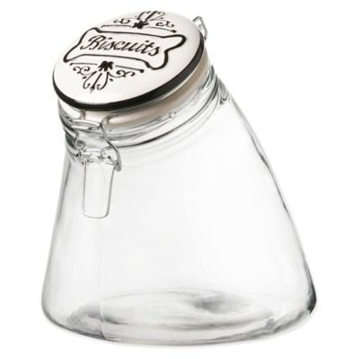 Slope Glass Dog Treat Canister