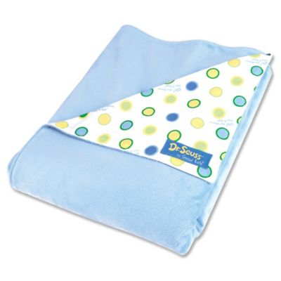 Trend Lab® Dr. Seuss™ Oh, the Places You'll Go! Velour Receiving Blanket in Blue