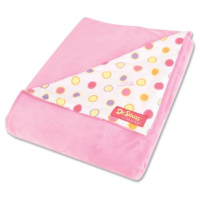Trend Lab® Dr. Seuss™ Oh, the Places You'll Go! Velour Receiving Blanket in Pink