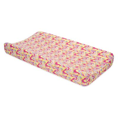 Trend Lab® Dr. Seuss™ Swirl Print Oh, the Places You'll Go! Changing Pad Cover in Pink