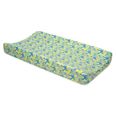 Trend Lab® Dr. Seuss™ Swirl Print Oh, the Places You'll Go! Changing Pad Cover in Blue