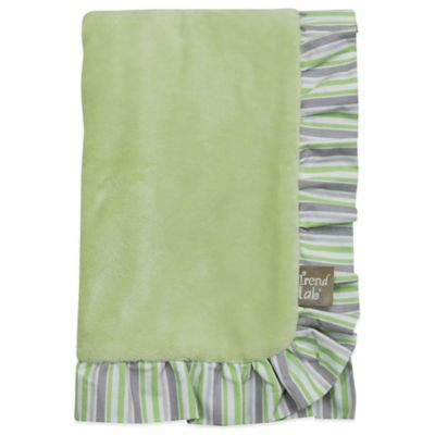 Trend Lab® Lauren Velour Ruffled Receiving Blanket