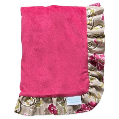 Waverly® Baby by Trend Lab® Jazzberry Ruffled Velour Receiving Blanket