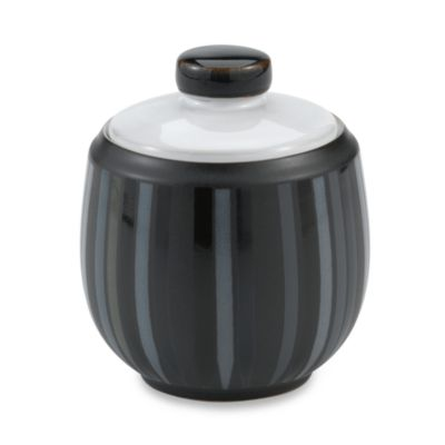 Denby Jet Stripes Covered Sugar Bowl