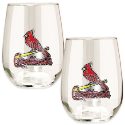 MLB St. Louis Cardinals Stemless Wine Glass (Set of 2)