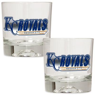 MLB Kansas City Royals Rocks Glass with Baseball Sculpted Bottom