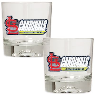 MLB St. Louis Cardinals Rocks Glass with Baseball Sculpted Bottom