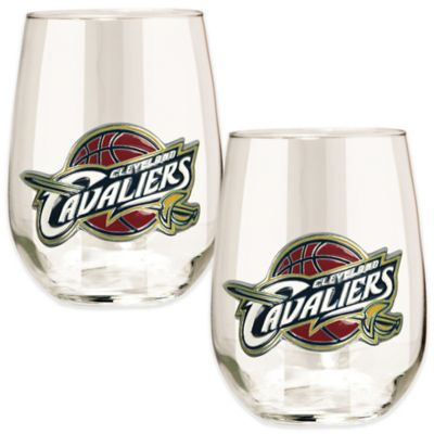 NBA Cleveland Cavaliers Stemless Wine Glass (Set of 2)
