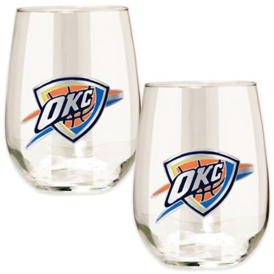 NBA Oklahoma City Thunder Stemless Wine Glass (Set of 2)