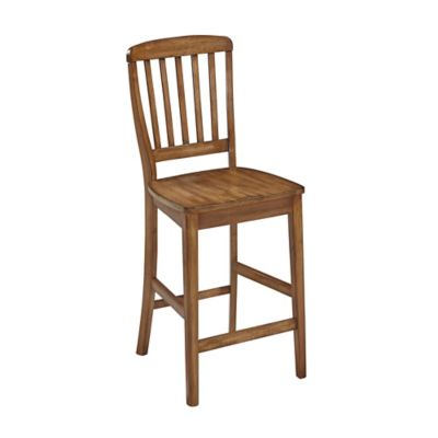 Home Styles Vintner Barstool in Warm Oak