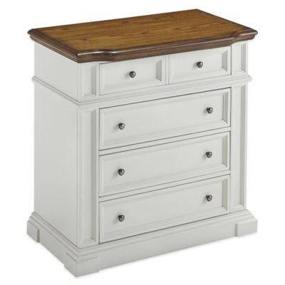 Home Styles Americana Chest in White/Oak