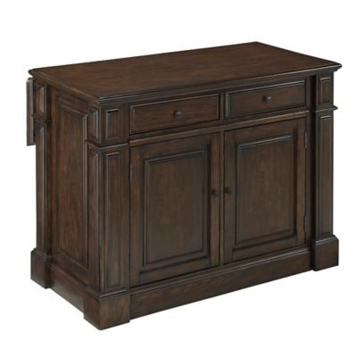 Home Styles Prairie Home Kitchen Island in Black Oak