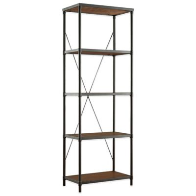 Verona Home Laughlin Industrial Bookshelf in Black/Brown