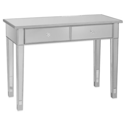 Southern Enterprises Mirage Mirrored 2-Drawer Console Table