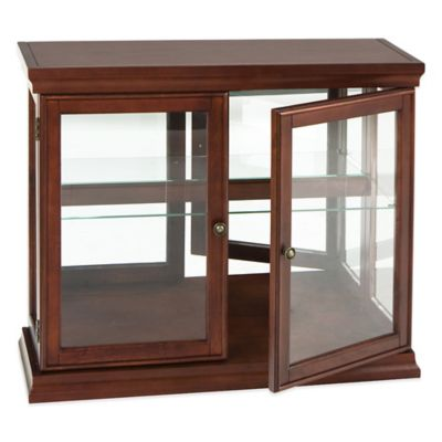 Southern Enterprises Arabella Double Door Curio in Mahogany