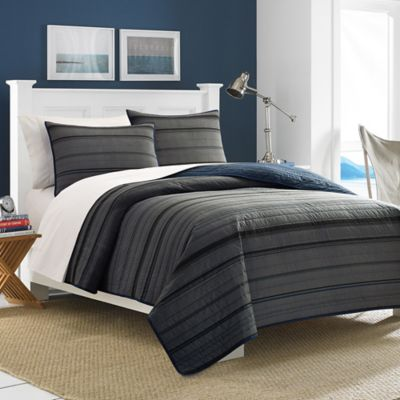Nautica® Sebec Standard Pillow Sham in Grey/Multi