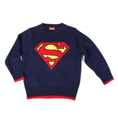 DC Comics™/Warner Bros® Size 18M Superman Sweater in Navy/Red