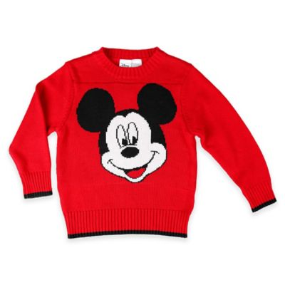 Disney® Size 12M Mickey Mouse Sweater in Red/Black