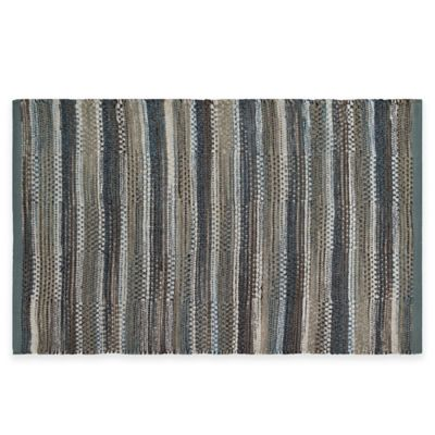 Chenille Stripe 1-Foot 8-Inch x 2-Foot 10-Inch Multicolor Area Rug