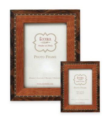 Eccolo™ Marquetry 8-Inch x 10-Inch 2-Tone Wood Frame in Tan
