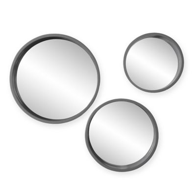 Holly & Martin® Daws 3-Piece Round Mirror Set in Cool Grey