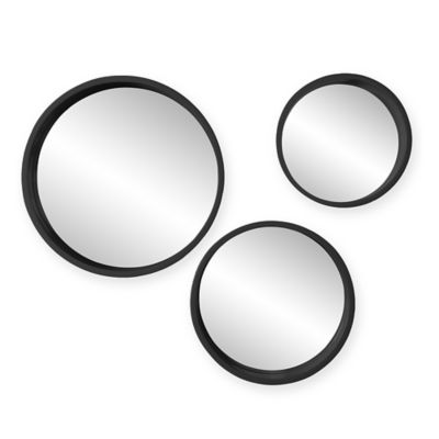 Holly & Martin® Daws 3-Piece Round Mirror Set in Black