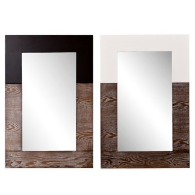 Holly & Martin® Wagars 24-Inch x 36-Inch Rectangular Mirror in Burnt Oak/White