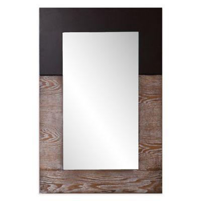 Holly & Martin® Wagars 24-Inch x 36-Inch Rectangular Mirror in Burnt Oak/Black