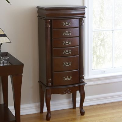 Southern Enterprises Amelia Jewelry Armoire in Mahogany