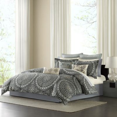 Echo Design™ Caravan Twin Comforter Set in Onyx