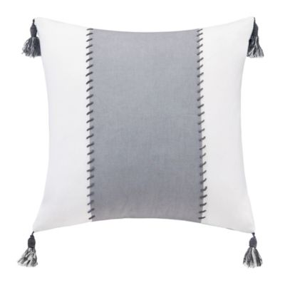 Grey Ivory Throw Pillow