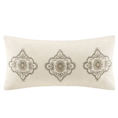 Echo Design Throw Pillows : Echo Design Caravan Oblong Throw Pillow in Ivory - Bed Bath & Beyond